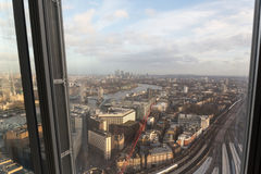 View from The Shard of London Bridge Stock Photo