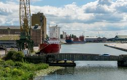 View of th Sharpness Docks, Englsnd royalty free stock images