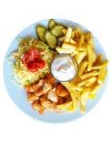 Shawarma on plate stock image