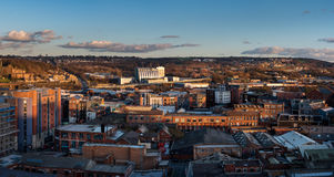View of Sheffield South Yorkshire England. Blocks of flats and social housing and high rise view of Sheffield South Yorkshire England stock images