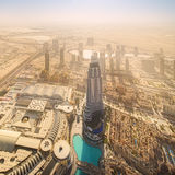 View at Sheikh Zayed Road skyscrapers Royalty Free Stock Image
