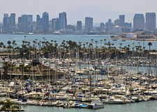 A View of Shelter Island and Downtown San Diego from Point Loma Royalty Free Stock Images