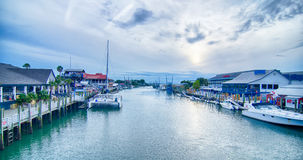 View of shem creek from coleman blvd charleston south carolina Royalty Free Stock Images