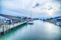 View of shem creek  from coleman blvd charleston south carolina Stock Photography