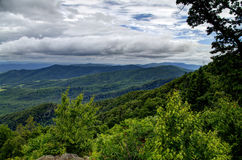 View from the Shenandoah Parkway with Ridgeline. The Shenandoah valley from the Parkway with Ridgeline Stock Photos