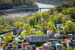 View of the Shenandoah River and Harpers Ferry from Maryland Hei Stock Images