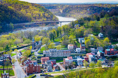 View of the Shenandoah River and Harpers Ferry from Maryland Hei Stock Photos
