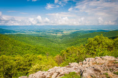 View of the Shenandoah Valley from Franklin Cliffs Overlook, in Royalty Free Stock Photography