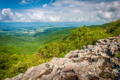 View of the Shenandoah Valley from Franklin Cliffs Overlook, in Stock Photography