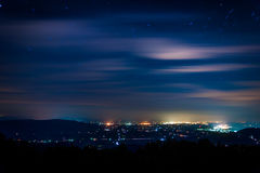 View of the Shenandoah Valley at night, seen from Skyline Drive Royalty Free Stock Photography