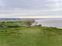 View of  Sheringham Golf Course. View from the Coast path over Sheringham Golf Club Stock Photo