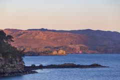 View from Shieldaig stock images