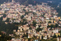 View of Shimla town in northern India. Densely populated Shimla district at Himachal Pradesh, India Stock Photography