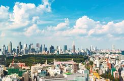 View of the Shinjuku skyline in Tokyo, Japan Royalty Free Stock Images