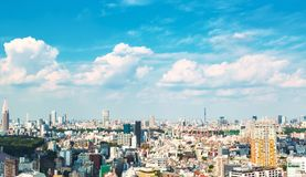 View of the Shinjuku skyline in Tokyo, Japan Royalty Free Stock Image