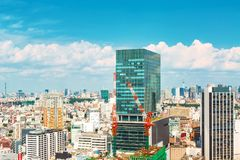View of the Shinjuku skyline in Tokyo, Japan Stock Photo
