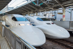 View of Shinkansen Bullet Tra Stock Images