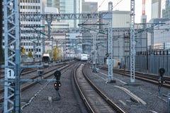View of Shinkansen Bullet Train at Tokyo station, Japan Stock Image