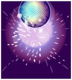 The view of Shiny disco ball Stock Image