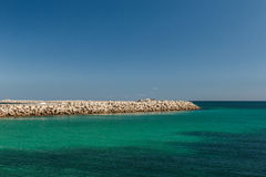 The view from the ship on the coast of Mahdia. Tunisia Stock Image