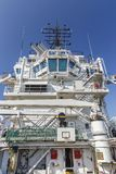 View of the ship`s captain`s deck. Transport Royalty Free Stock Photos