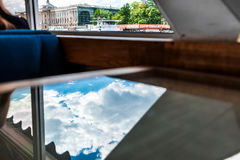 View through the ship window Royalty Free Stock Photography