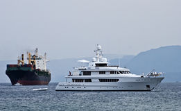 View on ships in the Aqaba gulf, Eilat, Israel Royalty Free Stock Photography