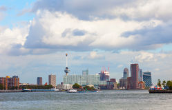 View of the ships in the port of Rotterdam Stock Photos
