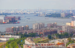 View of the ships in the port of Rotterdam, Nideranda Stock Image
