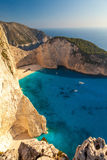 View of the shipwreck on the beach Navagio in Zakynthos, Greece Stock Photography