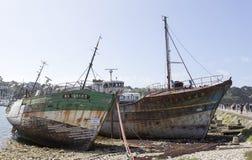 View of Shipwrecks, in Camaret-Sur-Mer. Camaret-Sur-Mer, France - August 17, 2016: View of Shipwrecks, in Camaret-Sur-Mer, Brittany, France Royalty Free Stock Images