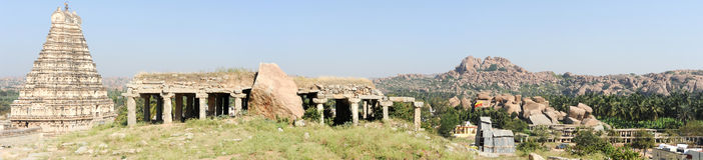 View of Shiva-Virupaksha Temple at Hampi, India Stock Image