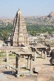 View of Shiva-Virupaksha Temple at Hampi, India Royalty Free Stock Photography