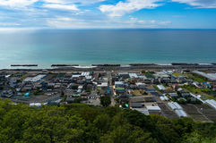 View of Shizuoka strawberry farms along Pacific coast. Japan Stock Photos