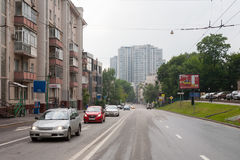 View on Shmitovsky Street in Moscow 13.07.2017 Royalty Free Stock Images
