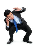 A view of a shocked young businessman Stock Image