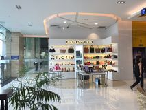 View of the shop in shopping mall Royalty Free Stock Images