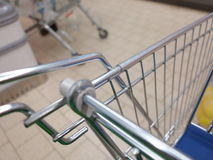 View of a shopping cart with grocery items Stock Photography