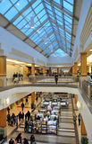 View of the shopping center inside. The photo was taken in the shopping center of Winnipeg City, Manitoba, Canada royalty free stock photos