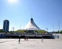 View shopping and entertainment center Khan Shatyr Astana. Kazak Stock Photos