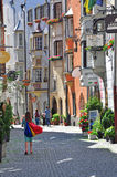 View of a shopping street in austrian city Stock Photo