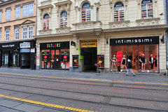 View of the shopping street in downtown of Zagreb Royalty Free Stock Photos