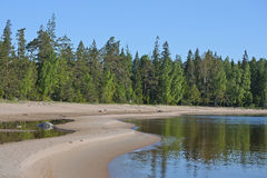 View of the shore of Lake Ladoga. Russia, Karelia Royalty Free Stock Photography