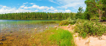View on shore of lake Royalty Free Stock Photography