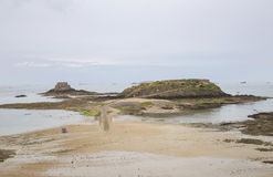 View of the shore from saint malo Stock Photo