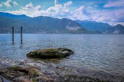 View from shore. To island Stock Photography