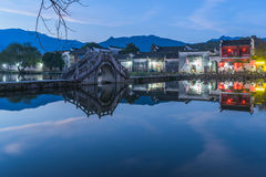 View shot from Anhui old village,Hong Cun in China Royalty Free Stock Image