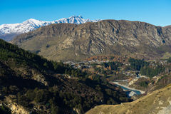 View of Shotover River and the Remarkables mountain Royalty Free Stock Photos