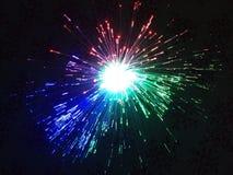 An electronic lightening showpiece. royalty free stock photo