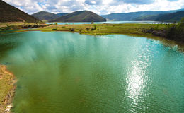 View of Shudu Lake at Shangri-la, Yunnan China Royalty Free Stock Photography